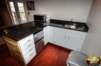 Granite counter top Wet Bar next to game room